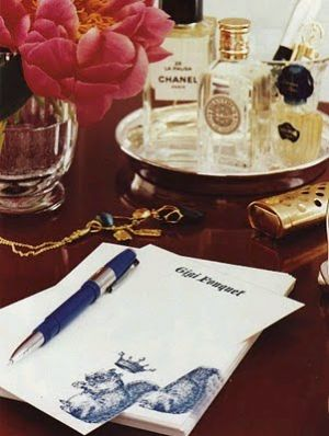 writing paper, flowers and perfume bottles.jpg